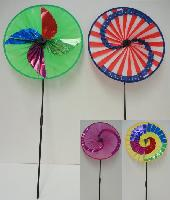 "15.5"" Round Wind Spinner-4 Styles - Assembly required"